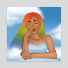 Head in the Clouds - Canvas by Questa