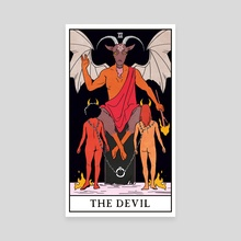 The Devil - The Modern Witch Tarot - Canvas by Lisa Sterle