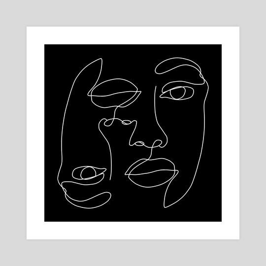 Gemini Face Line Art by LemoBoy