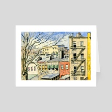 South Slope Looking North - Art Card by Jason  Das