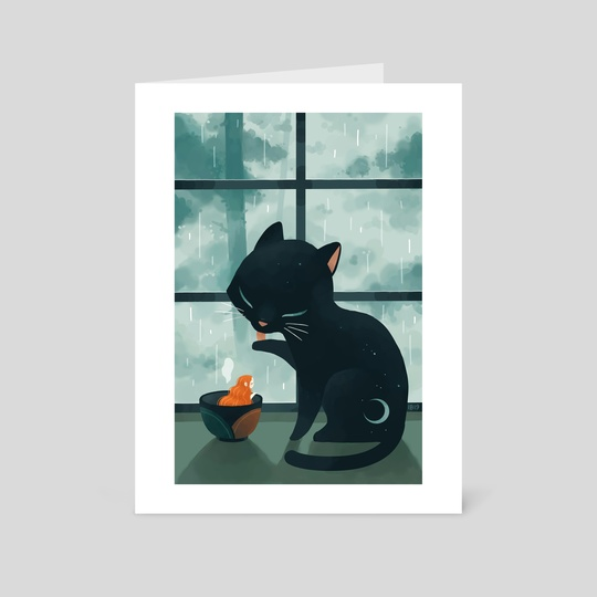 Cat and the Rain by Indré Bankauskaité
