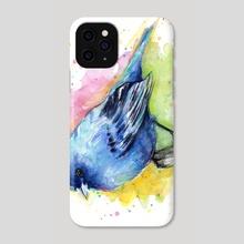 Indigo Bunting Watercolor - Phone Case by Olga Shvartsur