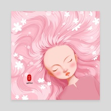 pinky - Canvas by Y Phien Tra