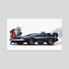 You made a time machine out of a Delorean? - Canvas by Shaun Keenan