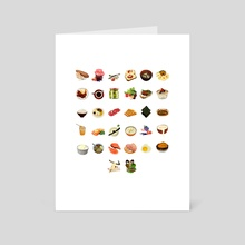 32 breakfast icone - Art Card by Jesse Harp
