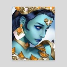 Symmetra - Goddess - Canvas by Queans