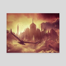 (Cloud) City of Brass - Canvas by Simon Pape