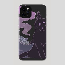 Occult Black Kitten - Phone Case by Chanel Draws