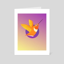 Allen's Hummingbird - Art Card by Amber Orenstein