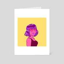 Pop art girl 1 - Art Card by Lozenger