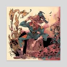 Scarecrow - Canvas by Sarah  Baslaim