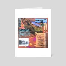 santa cruisin' - Art Card by Cedar Covington
