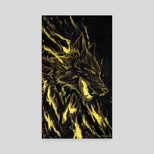 Golden Rage - Canvas by Anastasia Su