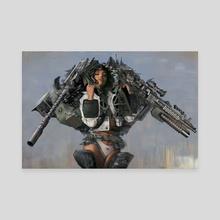 Gunner Sergeant - Canvas by Peter Lucier