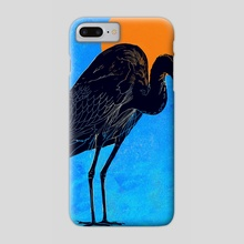 Heron - Phone Case by David Bushell