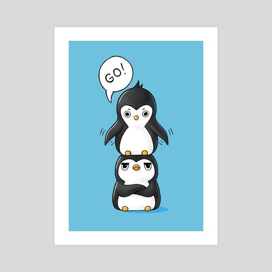 Penguins by Indré Bankauskaité