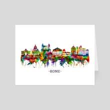 Rome Italy Skyline - Art Card by Towseef Dar