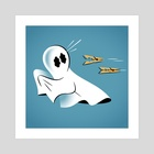 A Fearful Phantom (Teal) - Art Print by The Pure Bluff