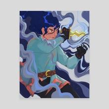 Knightober 12: Storm - Canvas by Loren Davis