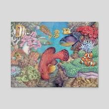 Rococo Reef - Acrylic by Tom Barrett