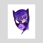 Catwoman Noir - Art Print by Veronica Fish