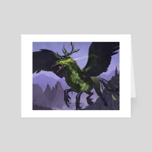 Corrupted Hippogryph - Art Card by Jaemin Kim