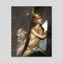 Golden Echelon - Acrylic by Emanuel Mårdsjö