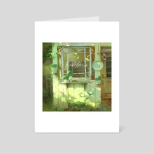Green Cafe - Art Card by Tommy Kim
