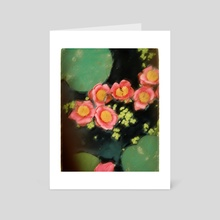 Lotus Flowers - Art Card by Elena Fernández Rico