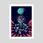 Drumbot - Art Print by Gabriel Silveira