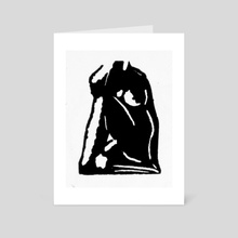 Nude seated - Art Card by James Giddins