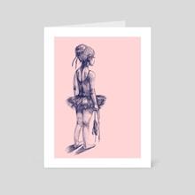 Little girl ballet dancer - Art Card by Tatiana Ilina