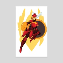 Shield Knight - Canvas by Cazel Rulloda