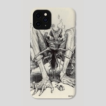 Devil - Phone Case by Charles Lister