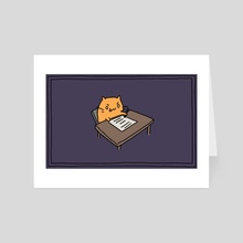 Cat Works - Art Card by Amy Gerardy