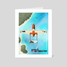 """Cessna 337 """"Skymaster"""" - Art Card by Juan  De Aragón"""