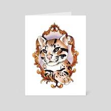 Royal Ocelot - Art Card by Anna Henzy