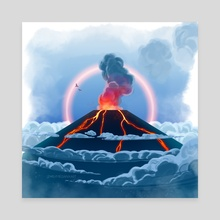 Lava - Canvas by EmilyMeganXArt
