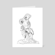 melting baby - Art Card by heather l