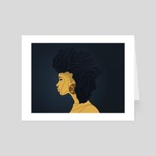 Afro Africa - Art Card by Mario Hounkanrin