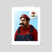 The Real Super Mario - Art Card by Tom Velez