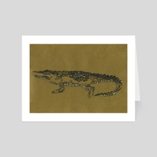 Alligator - Art Card by Indré Bankauskaité