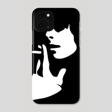 Girl with cigarette - Phone Case by Sasha Mirov