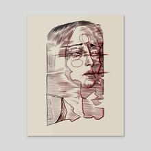 Blurred woman portrait  - Acrylic by Pablo Puentes