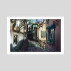 Italian Alley - Art Print by Justino Sadur-Torres