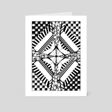 5.B&W-A4.Sectioned - Art Card by Darling Wicks
