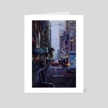 Nyc street - Art Card by Michał Sawtyruk