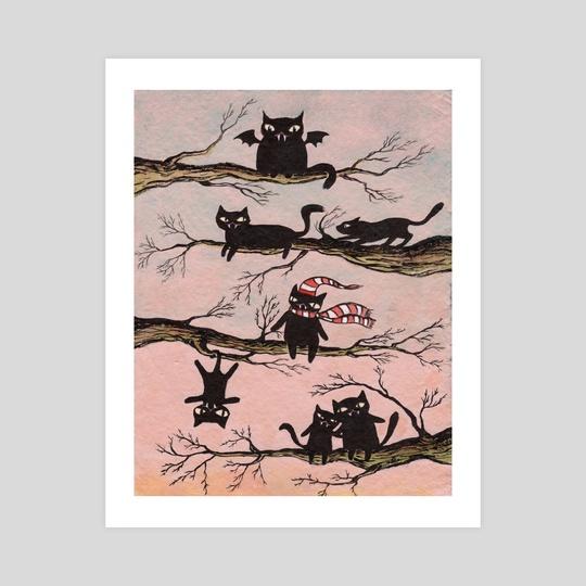 Cat city by Josephine  Estey