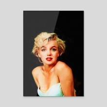 Norma Jean - Acrylic by Eddie J. L. Christian