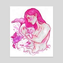 Siamese  - Canvas by India Emmaline